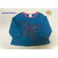 Buy cheap Butterfly Applique Toddler Long Sleeve T Shirts , 100% Cotton Baby Tee Shirts from wholesalers