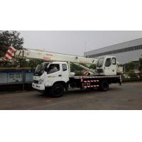 Buy cheap 8 /12 /16 Tons Hydraulic Small Truck Crane , 10 Ton Crane Truck With Telecopic Boom from wholesalers