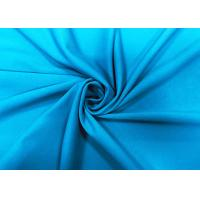 Buy cheap 290GSM Stretchy 87% Nylon Warp Knitted Fabric Elastic Plain Turquoise Blue from wholesalers