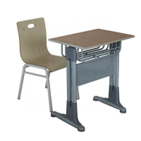 Buy cheap Wooden Height Adjustable Primary School Table And Chairs from wholesalers