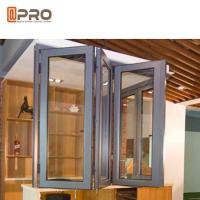 Buy cheap Wind Proof Aluminum Bifold Windows Color Optional With Insulated Double Glass balcony folding window hardware folding from wholesalers