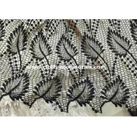 Buy cheap Leaf Shape Black Polyester Water Soluble Lace Fabirc 50 Inch For Textile from wholesalers