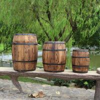 Buy cheap Large wooden barrels for home garden decoration accept custom and add logo from wholesalers
