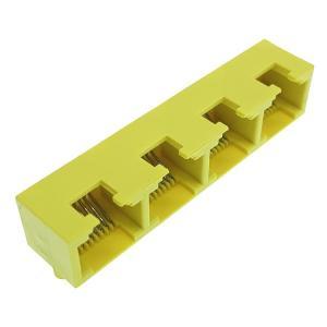 Buy cheap Phosphor Bronze Contact Yellow PBT Mini RJ45 Connector UL94V-0 product