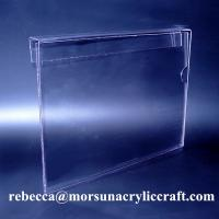 Buy cheap Hanging A4 Plexiglass Ticket Holder PMMA Poster Holder Clear Acrylic Price Holder from wholesalers