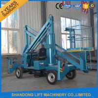 Buy cheap Commercial Hydraulic Articulated Trailer Boom Lift Rental , 8m Rotating Truck Mounted Aerial Lift from wholesalers