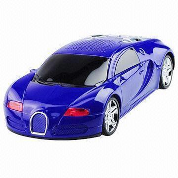 Buy cheap Mini Car Speaker, FM Radio, Supported TF USB Mini Hi-Fi Music Speaker with Car Shape Light from wholesalers