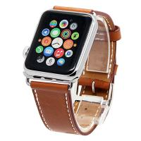 Buy cheap 38&42mm Apple Watch Band, Genuine Leather Smart Watch band Replacement With Adapter from wholesalers