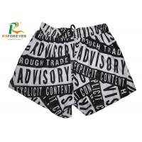 Buy cheap Mesh Lined Polyester Womens Board Shorts Custom Silk Screen Printing from wholesalers