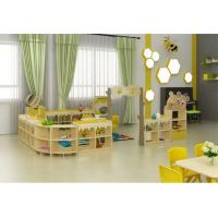 Buy cheap Furniture for Nursery and Preschool Wooden Toy Storage Cabinet Wood Kindergarten Bookshelf from wholesalers