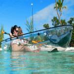 Buy cheap Durable Clear Fiberglass Fishing Boats , Waterproof Hatch 12 Foot Canoe from wholesalers