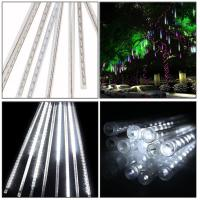 Buy cheap 5W 30CM 8 Tubes 144LEDs Rainproof RGB LED String Lights Indoor Christmas decoration with US EU plug from wholesalers