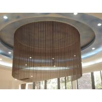 Buy cheap Flame Resistant Wire Mesh Curtain Chain Link Fabrics Coil Drapery Decorative from wholesalers