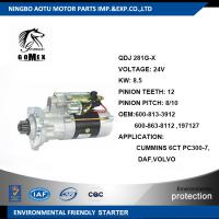 Buy cheap CUMMINS 6CT PC300-7 DAF / VOLVO Car starter OEM 600-813-3912 600-863-8112 197127 from wholesalers
