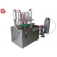Buy cheap Aerosol Spray Filling Machine , Automatic Spray Painting Machine Suppliers from wholesalers