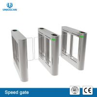 Buy cheap High Speed Pass Security Turnstile Gate , Retractable Waist High Turnstile Rfid Reader from wholesalers