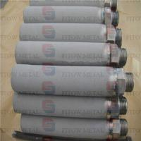 Buy cheap high filtration Gr1 Gr2  Sintered Titanium Water Filter Cartridge from wholesalers