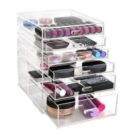 Buy cheap Lower Price Clear Acrylic Makeup Organizer with drawers from wholesalers