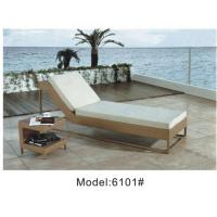 Buy cheap Rattan wicker outdoor garden furniture of sun lounger ---6101 from wholesalers