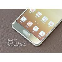 Buy cheap Ashai Glass Cell Phone Screen Protectors , Samsung C7 Oleophobic Coating Screen Protection from wholesalers