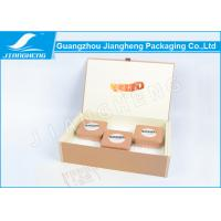 Buy cheap Tea Tins Packaging Simple Gift Boxes Coated Paper Plush Fabric Wrapped Foam Insert from wholesalers