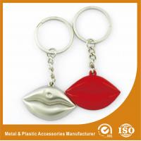 China Silver Plated Custom Shaped Keychain Personalised Lips Keychain on sale