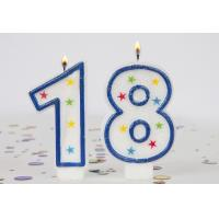 China 4  Colors Star Painting Number Birthday Candles , Handmade Paraffin Wax Candles on sale