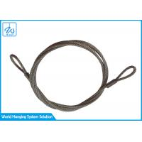 Buy cheap 6mm 7x19 Stainless Steel Wire Rope Slings Eye & Eye For Aircraft Cable Display System from wholesalers