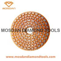 Buy cheap 4 Inch Velcro Diamond Metal Bonded Grinding Disc for Concrete from wholesalers
