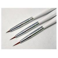 Buy cheap 3pcs/set Nail Art Design Brushes Gel Set Painting Draw Pen Polish Brush set White Handle from wholesalers