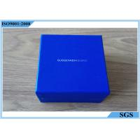 Buy cheap Blue Cardboard Jewelry Boxes Small Square Shape With Customized Logo from wholesalers