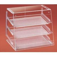 Buy cheap Clear Acrylic Bakery Display Case With Trays , Slant Front , Rear Doors product