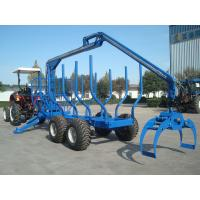 Buy cheap China forestry machine atv log trailer with crane load capacity upto 12tons low cost from wholesalers