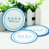 Buy cheap Environmental Water Absorbent Coasters , Disposable Coasters For Drinks from wholesalers