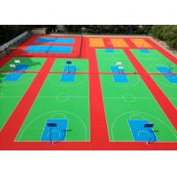 Buy cheap Antifraying Outside Basketball Court Flooring , No Protruding Angle Removable Flooring from wholesalers