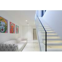 Buy cheap Inside white Straight staircase wooden stair with customized design product