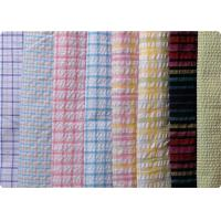 Buy cheap 100% Cotton Yarn Dyed Latccice Plaid Seersucker Fabric For Garment from wholesalers