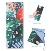 Buy cheap Natural Rubber Extra Thin Yoga Mat / Exercise Floor Travel Fitness Mat from wholesalers