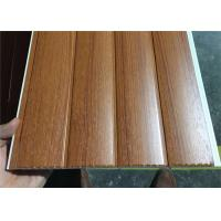 Buy cheap Vinyl Wood Wall Paneling Sheets , Pvc Bathroom Ceiling Cladding Groove Design from wholesalers