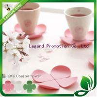 Buy cheap Silicone rubber cup mat, Rittai Coaster flower, Four-Leaf Clover hot pad from wholesalers