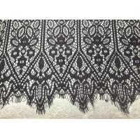 Buy cheap Black Vintage Designs Scallop Edge Alencon Eyelash Lace Trim For Fashion Apparel from wholesalers