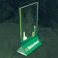 Buy cheap Vertical 2mm Acrylic Menu Holder With Silk-screen Print Logo product