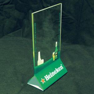 Buy cheap Vertical 2mm Acrylic Menu Holder With Silk-screen Print Logo product