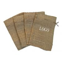 Buy cheap Personalized Plain Jute Drawstring Gift Pouches , Natural Drawstring Bag from wholesalers