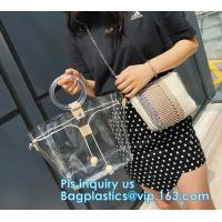 Buy cheap handbag online pvc handbag for women, PVC tote handbag with a small purse, Thick PVC Women Unique Handbags, Bag Pouches from wholesalers