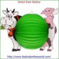 Buy cheap printed animal paper lantern craf from wholesalers
