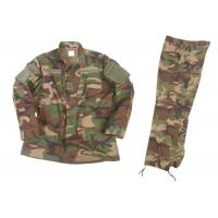 Buy cheap Pleated Back Military Camo Outfit , Desert Camouflage Uniform With Sleeve Pocket from wholesalers
