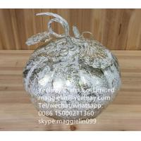 Buy cheap YL-X3015  party decoration halloween decorative popular sale christmas metal iron pumpkin from wholesalers