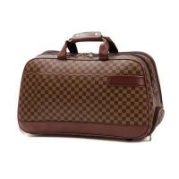 Buy cheap Large Travelling Luggage Bags with Tie Rod Hand Double Use , Brown PU Leather Trolley Bags from wholesalers