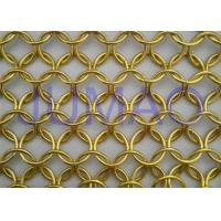 Buy cheap Malleable U Track Metal Ring Curtain , Modern Styles Bronze Chainmail Curtain product